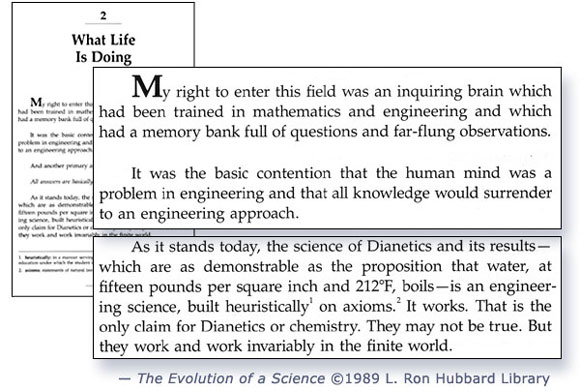 Dianetics: The Evolution of a Science (1989) p. 11