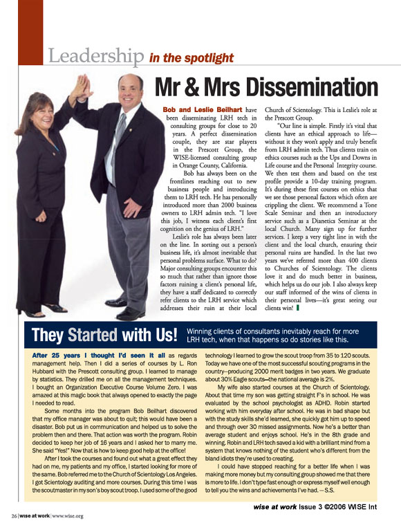 Article: Mr & Mrs Dissemination
